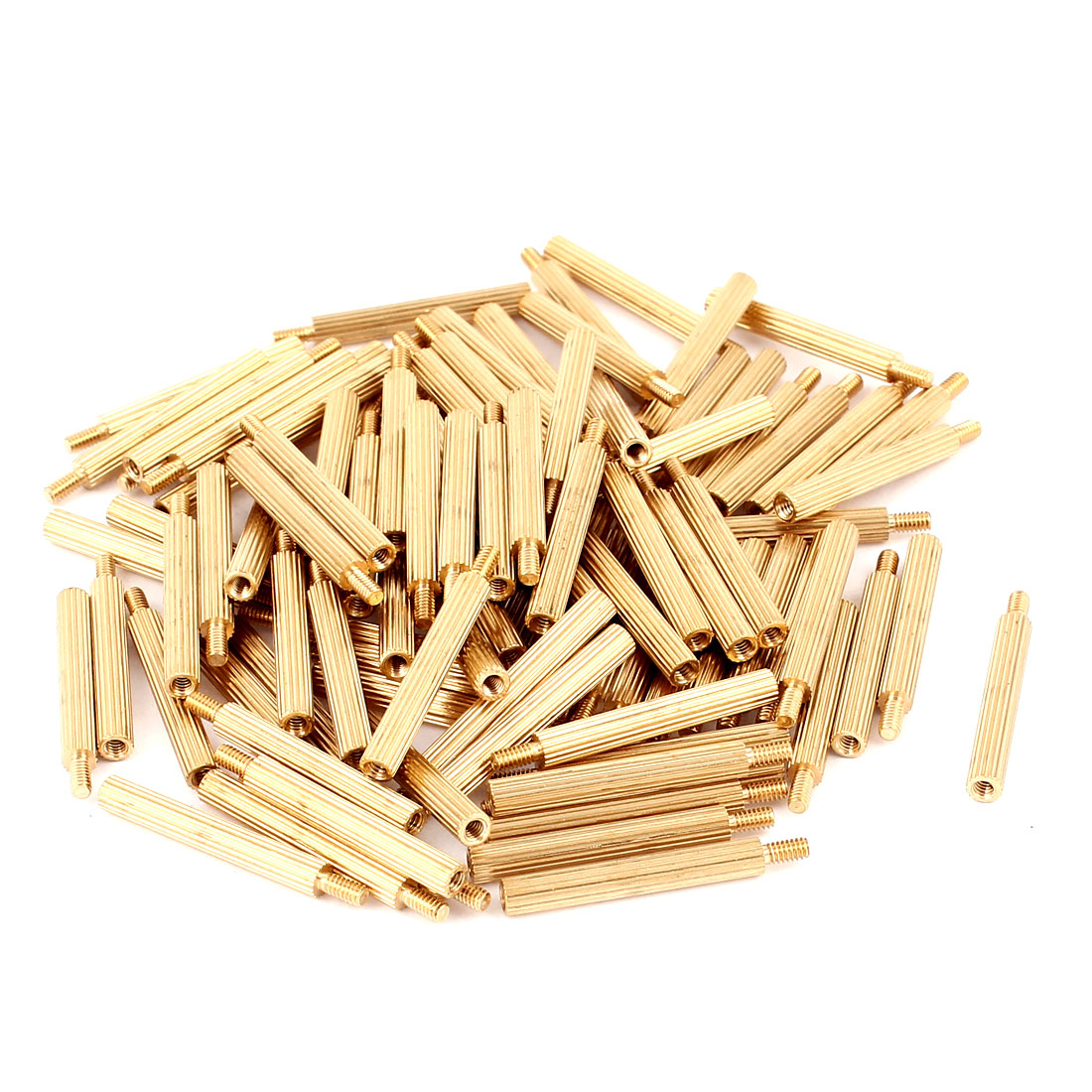100pcs M2 22mm+4mm Female to Male Knurling Brass Standoff Spacer Pillar for PCB Motherboard