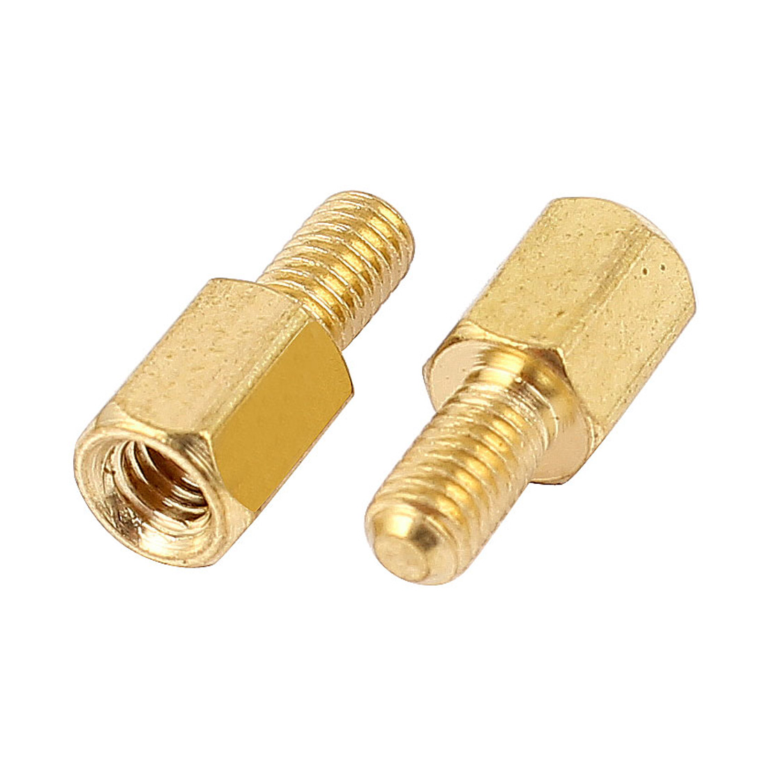 100Pcs M3 Male to Female 6mm+6mm Screw Threaded Brass Hex Standoff Spacer for PCB Motherboard