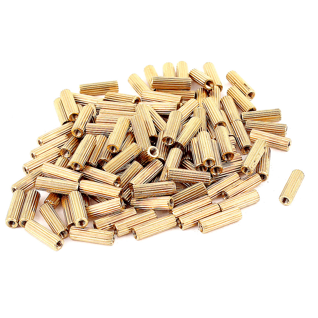 100pcs M2x10mm Female Knurling Brass Standoff Spacer Pillar for PCB Motherboard