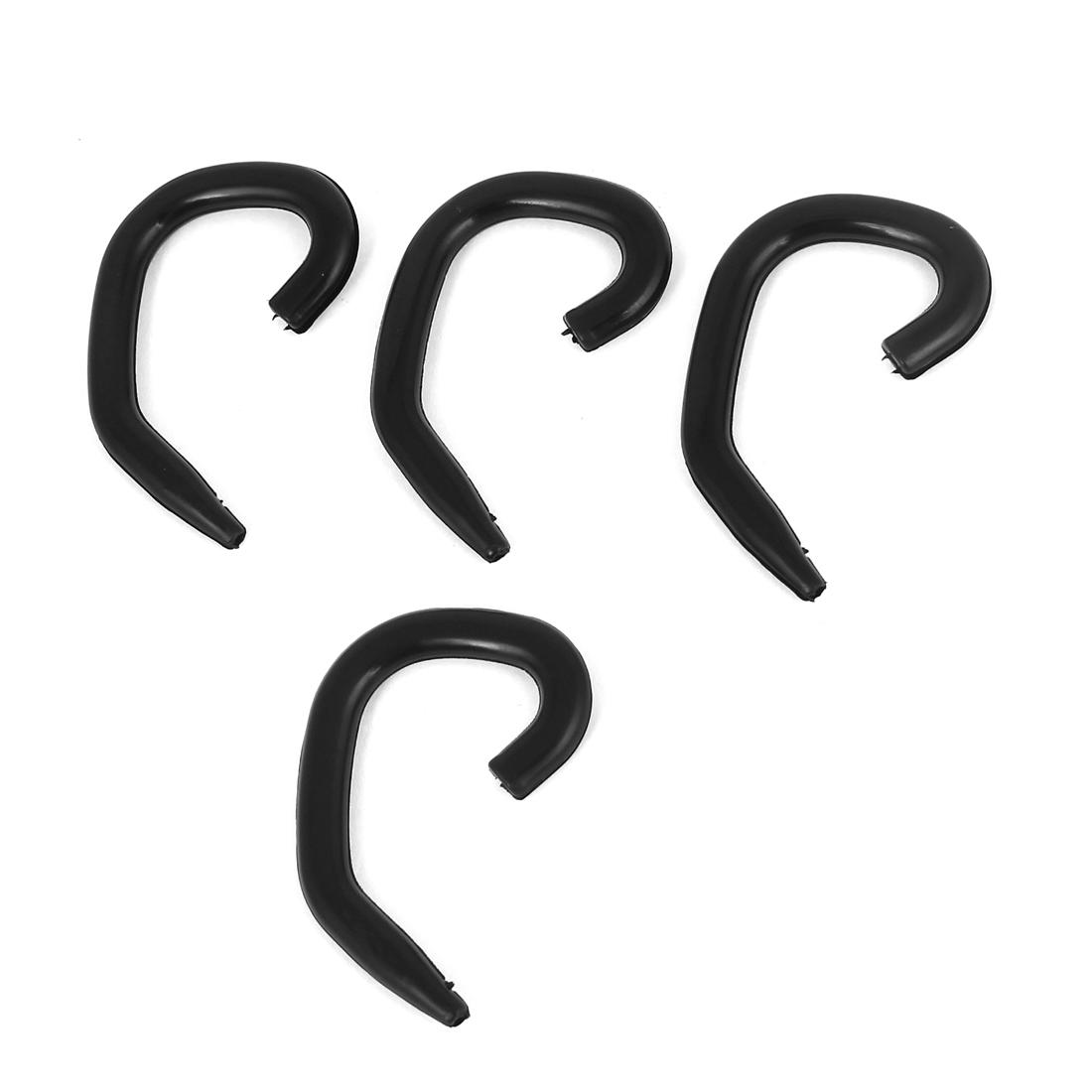 2 Pairs Black Earhook Ear Hook Loop Earloop Clip For bluetooth Headset