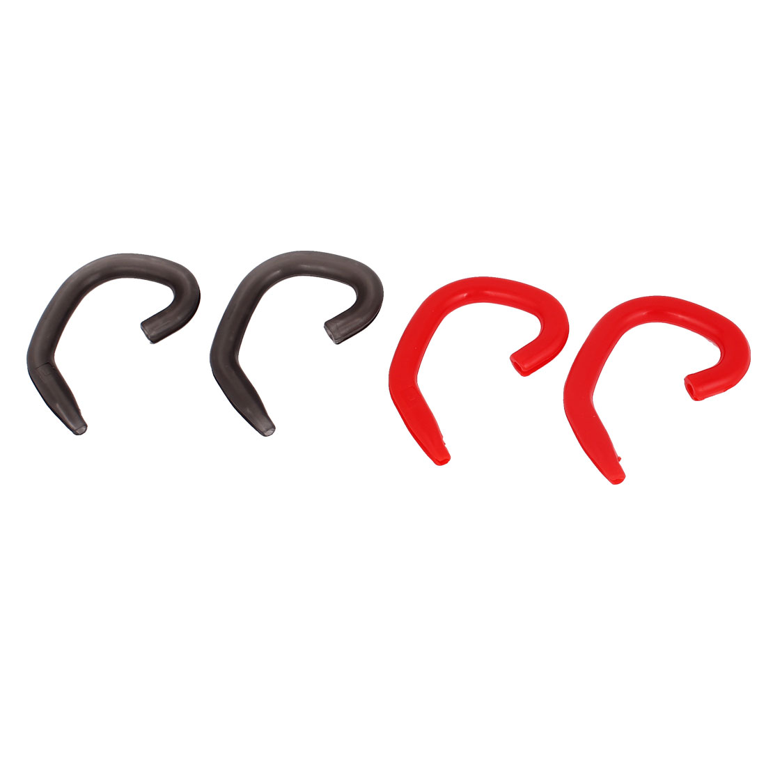 2 Pairs Gray Red Ear Hooks Loops Clips for bluetooth Headset Earphone