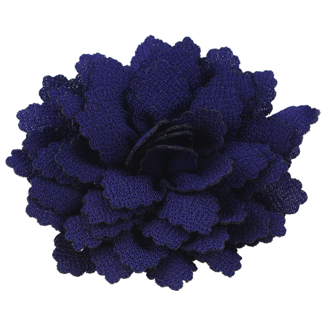 Party Dark Blue Flower Shape Corsage Hair Clip Brooch Pin for Lady