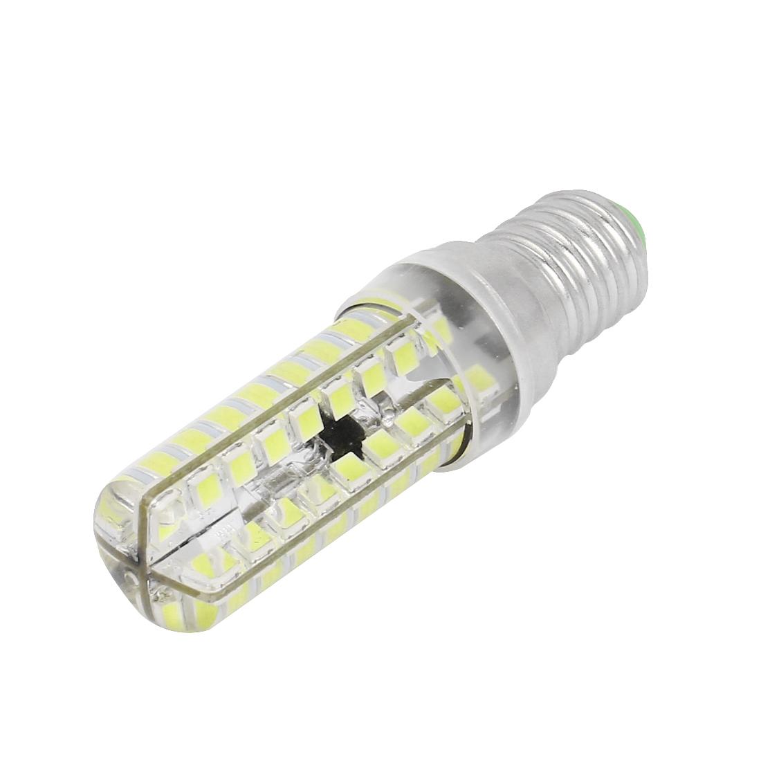Dimming E14 7W 72 LED Lamp 2835 SMD Light Bulb Pure White AC 220V-240V