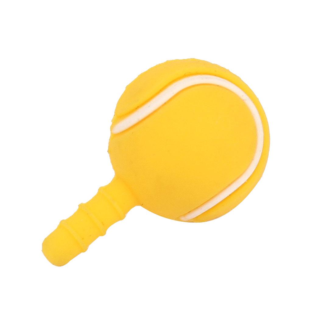 Yellow Ball Shape 3.5mm Earphone Ear Cap Anti Dust Stopper for Cell Phone