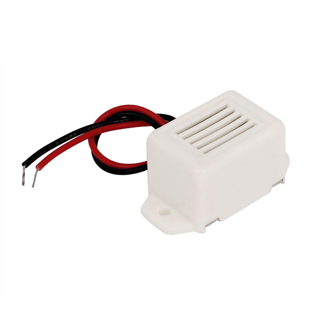 DC 3V Miniature Electronic Effect Tone Sounder Alarm Buzzer Beep White