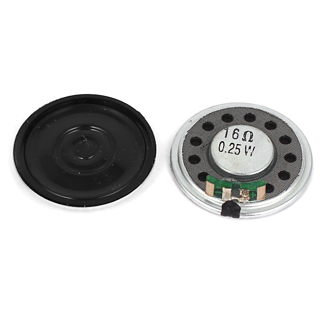 16Ohm 0.25W Doorbell 36mm Dia Round Magnet Sealed Speaker Loudspeaker 2PCS