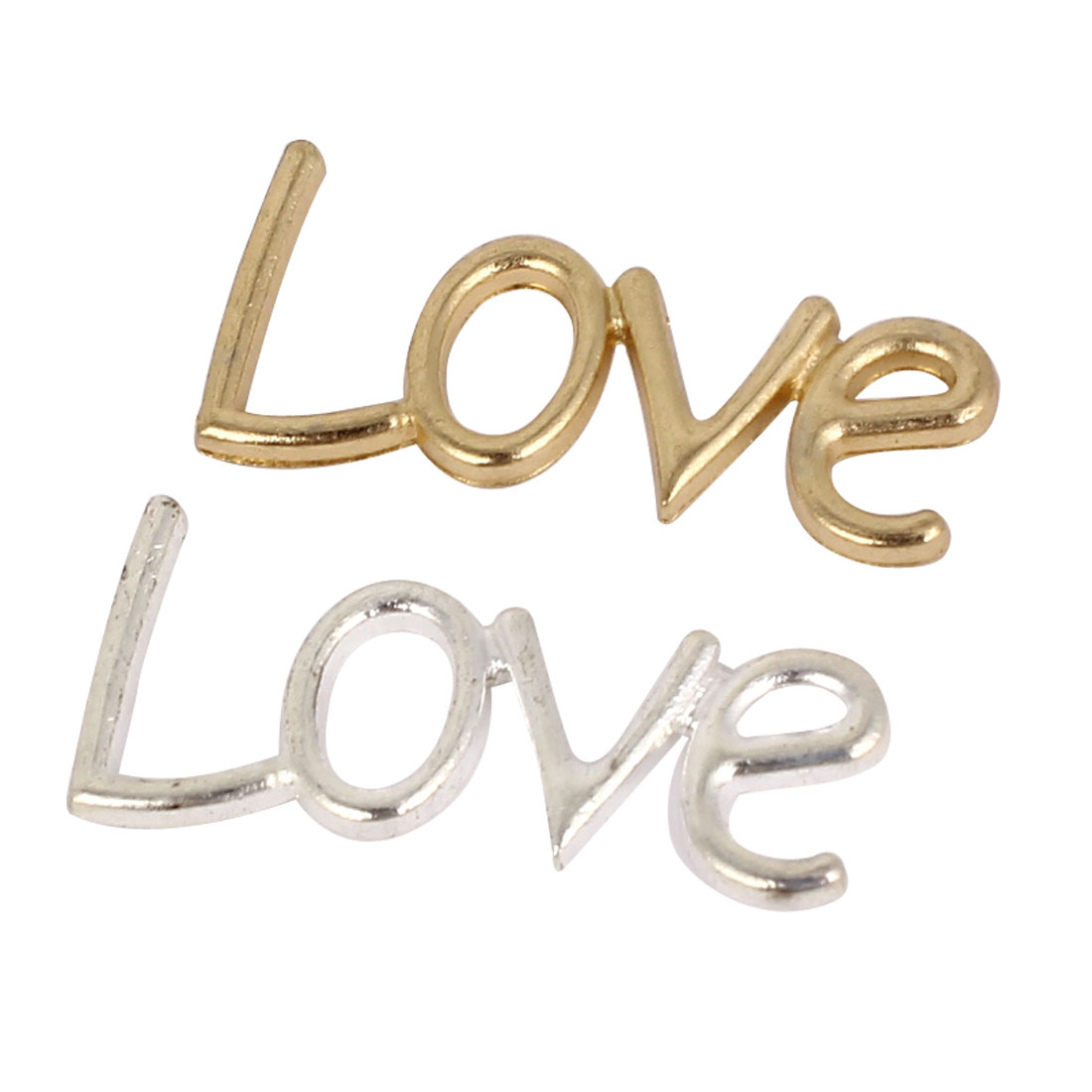 Alloy LOVE Words Letters Wedding Photo Wall Door Bag Decor Art Sticker 2PCS