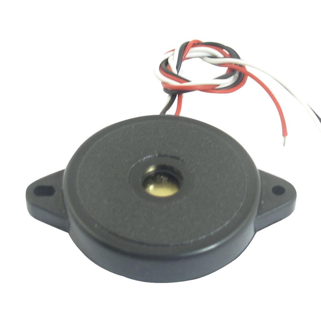 DC 30-40V Industrial Continuous Sound Electronic Alarm Buzzer Black