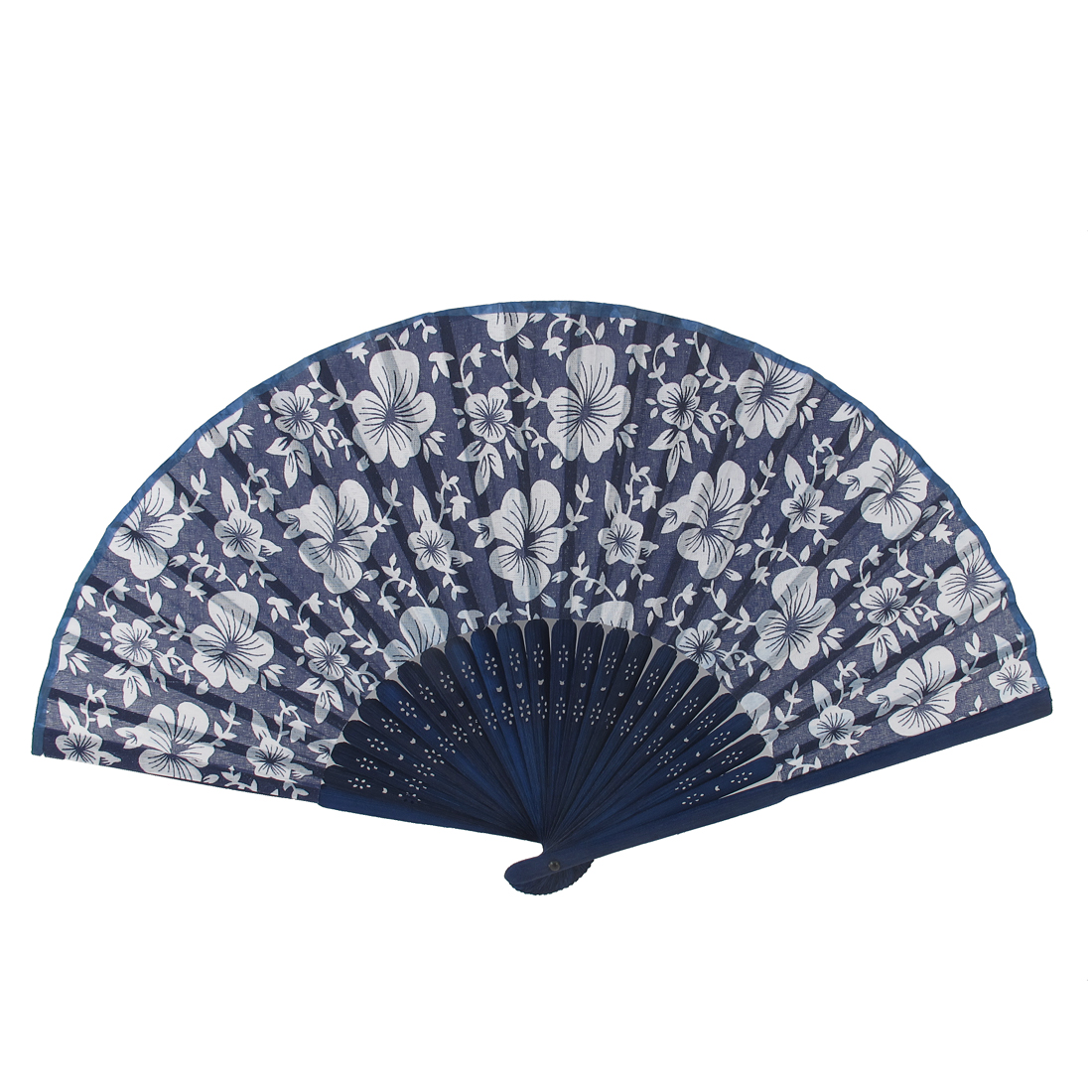 Bloming Flowers Printed Bamboo Frame Portable Foldable Summer Hand Fan