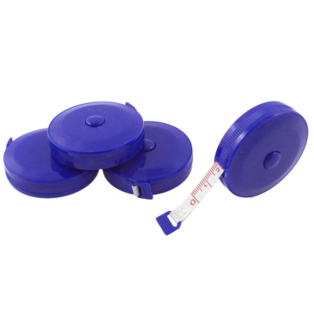 4 Pcs Blue Round Retractable Tailors Sewing Measure Tape Ruler Metric 150cm 45cun