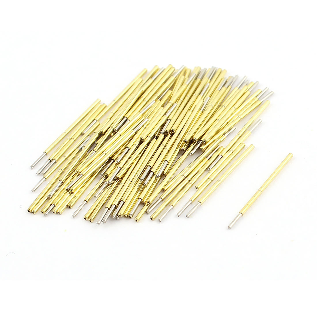 100Pcs P50-Q1 Dia 0.68mm Length 16.55mm 75g Spring Test Probe Pin