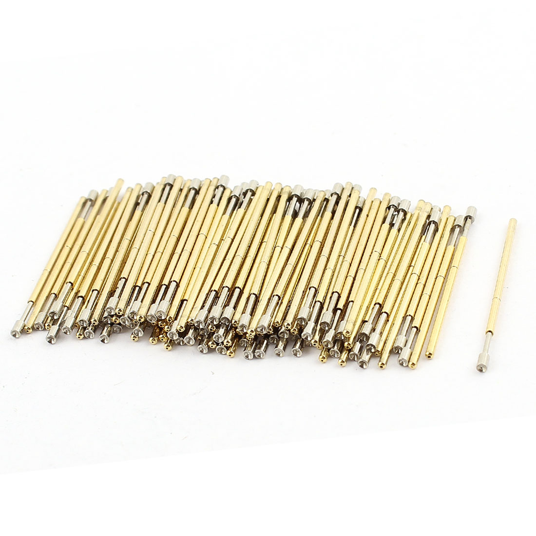 100 Pieces PM75-A2 Dia 1.02mm 120g Spring Loaded Test Probe Pin