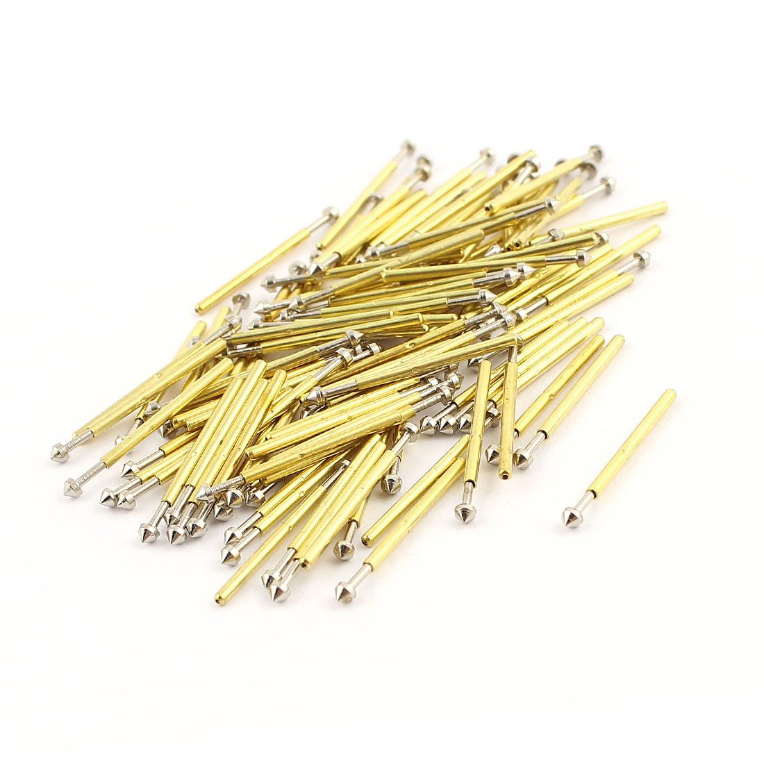 100 Pieces P75-E3 Dia 1.02mm 100g Spring Test Probe Pin for PCB Board