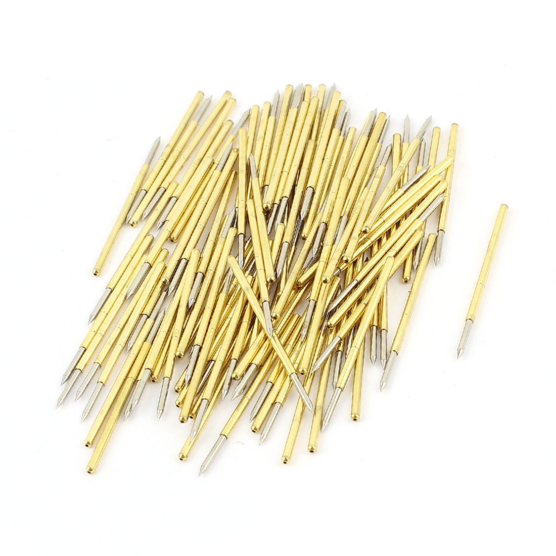100Pcs P100-B1 Dia 1.36mm Length 33.35mm 180g Spring Test Probes Pin