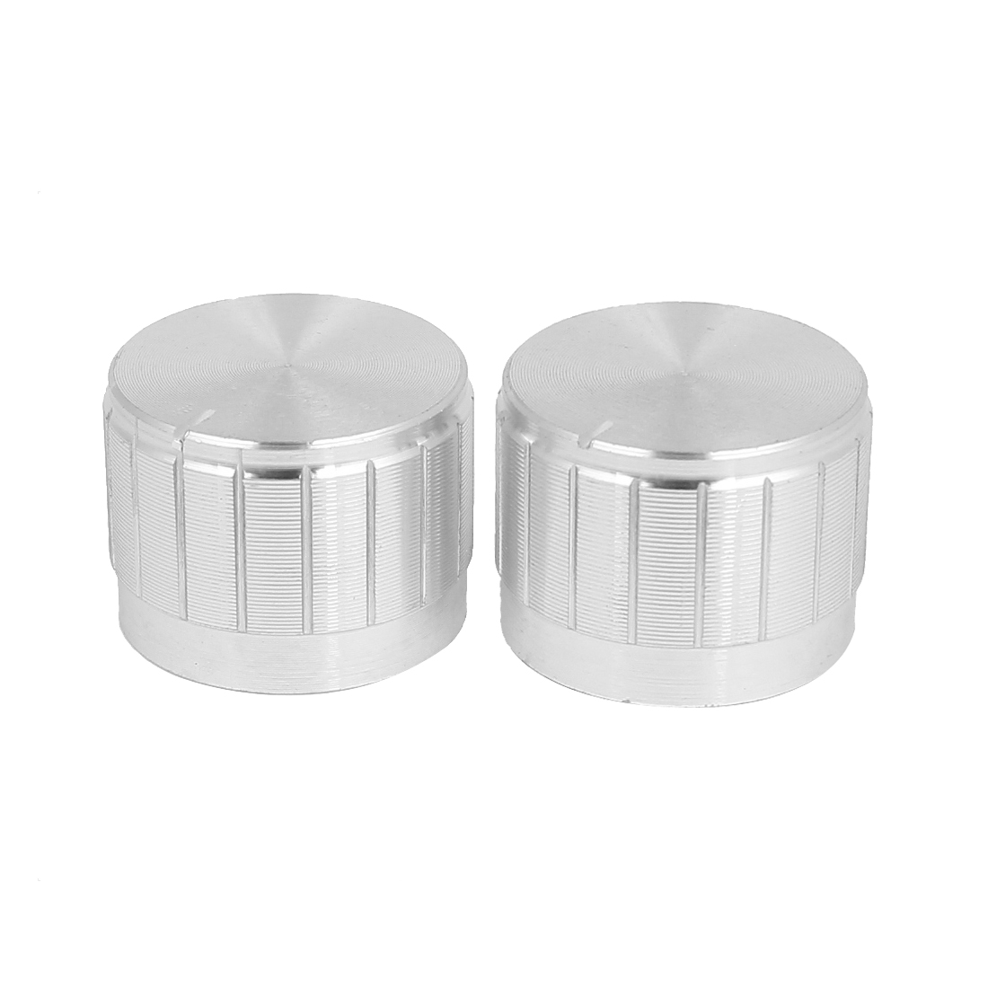 2Pcs 23mm x 17mm Kunrled Shaft Potentiometer Control Rotary Knobs Cap