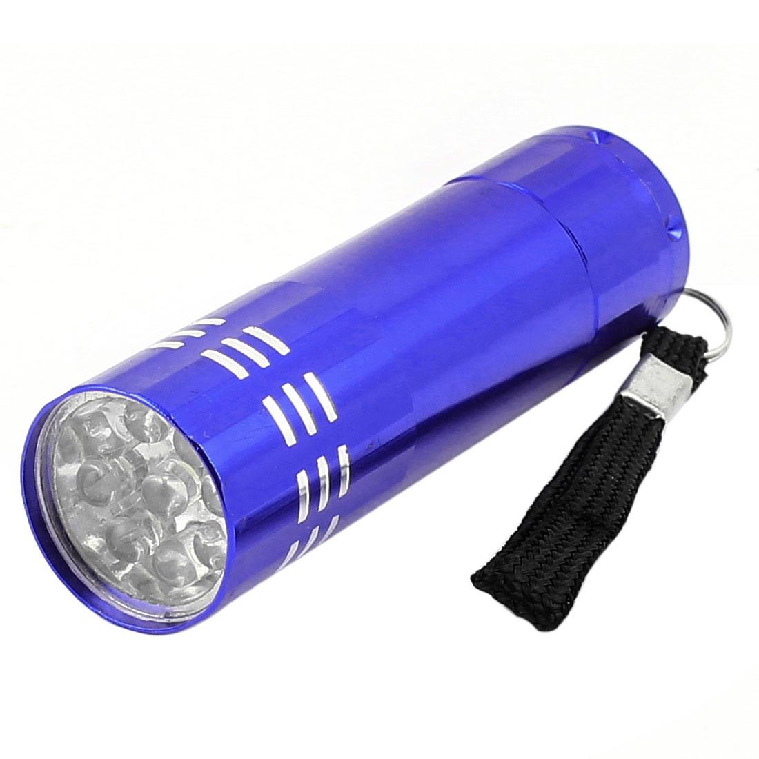 Home Camping Aluminium Alloy Shell 9-LED White Light Flashlight Torch Lamp