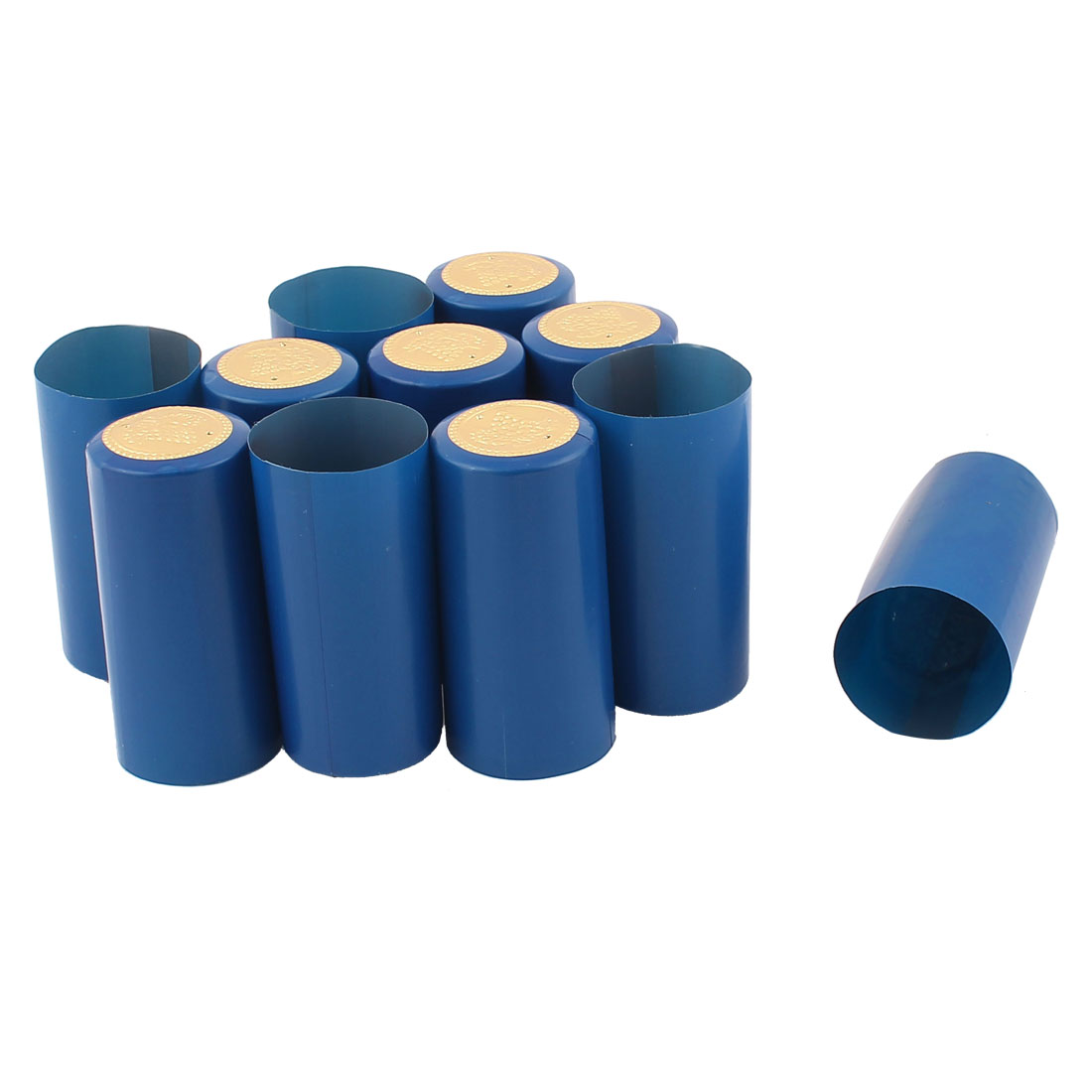 Winery Wine Bottle PVC Heat Shrink Tops Caps Capsules Blue 10PCS