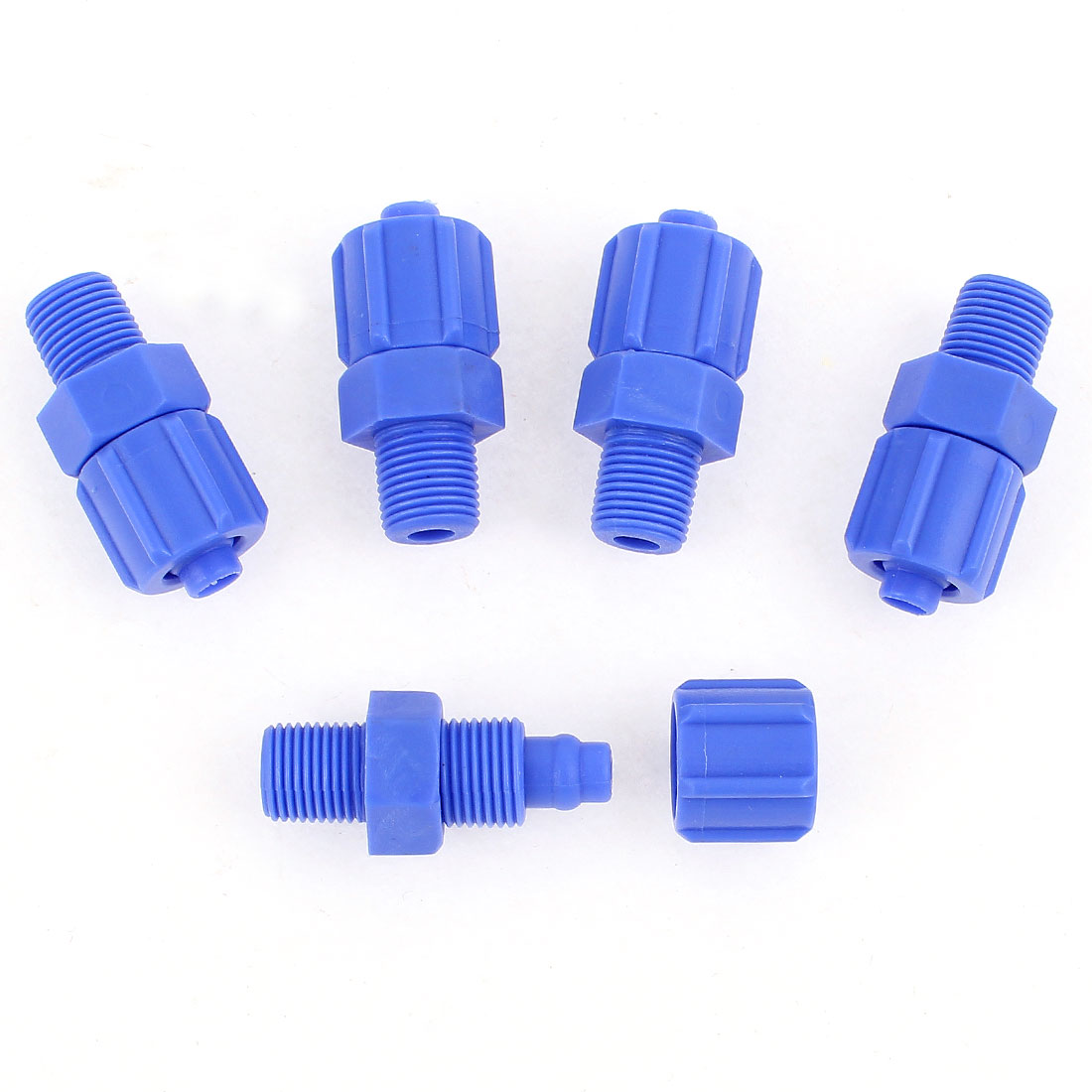 5Pcs 1/8BSP Male Thread Air Pneumatic Quick Fitting Straight Connector 8mm OD
