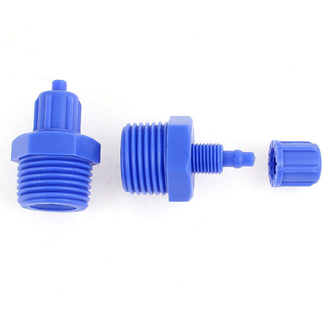 2Pcs 1/2BSP Thread Pneumatic Quick Fitting Tube Hose Straight Connector 6mm OD