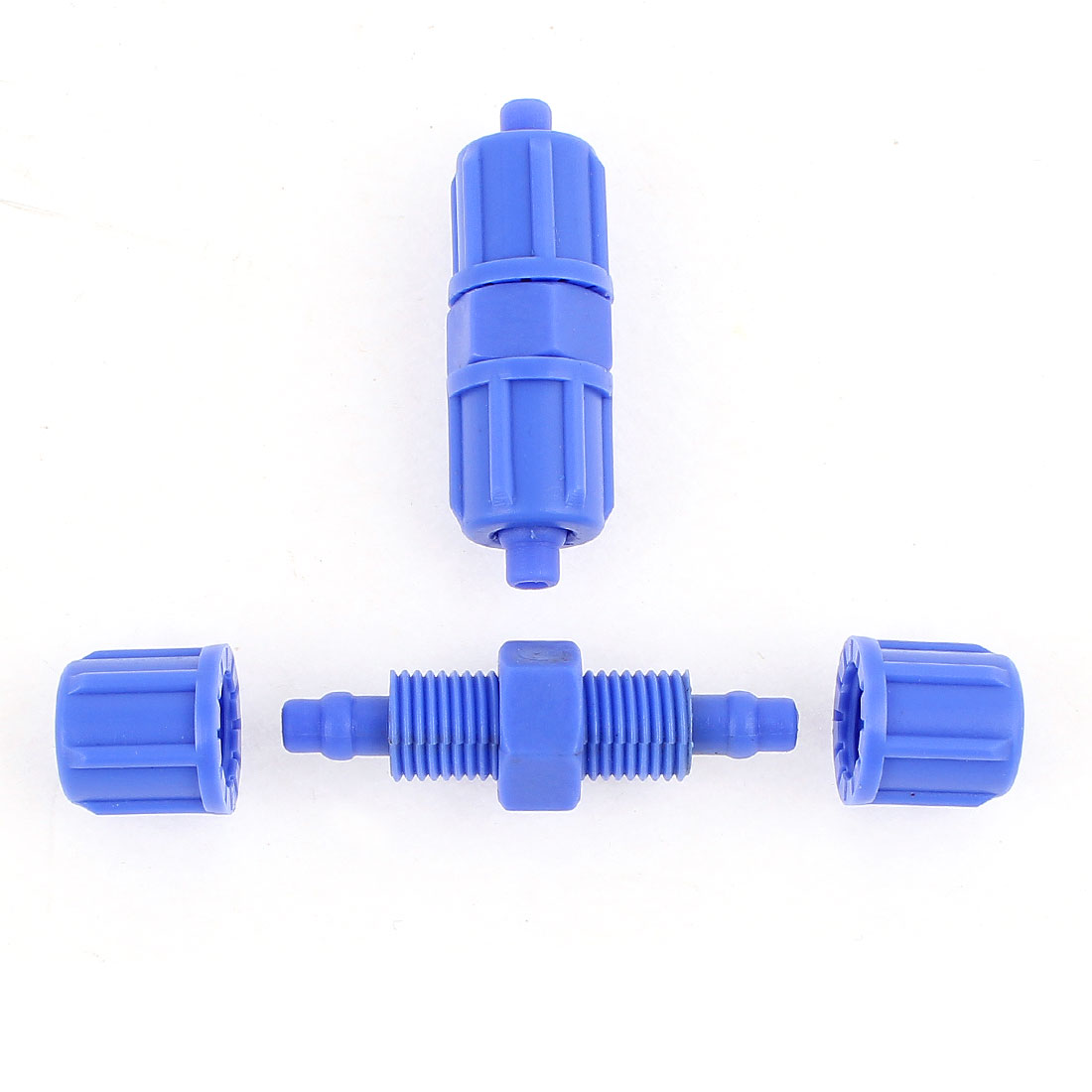 2Pcs 6mm x 6mm Pneumatic Quick Fitting Air Hose Pipe Push In Joint Connector