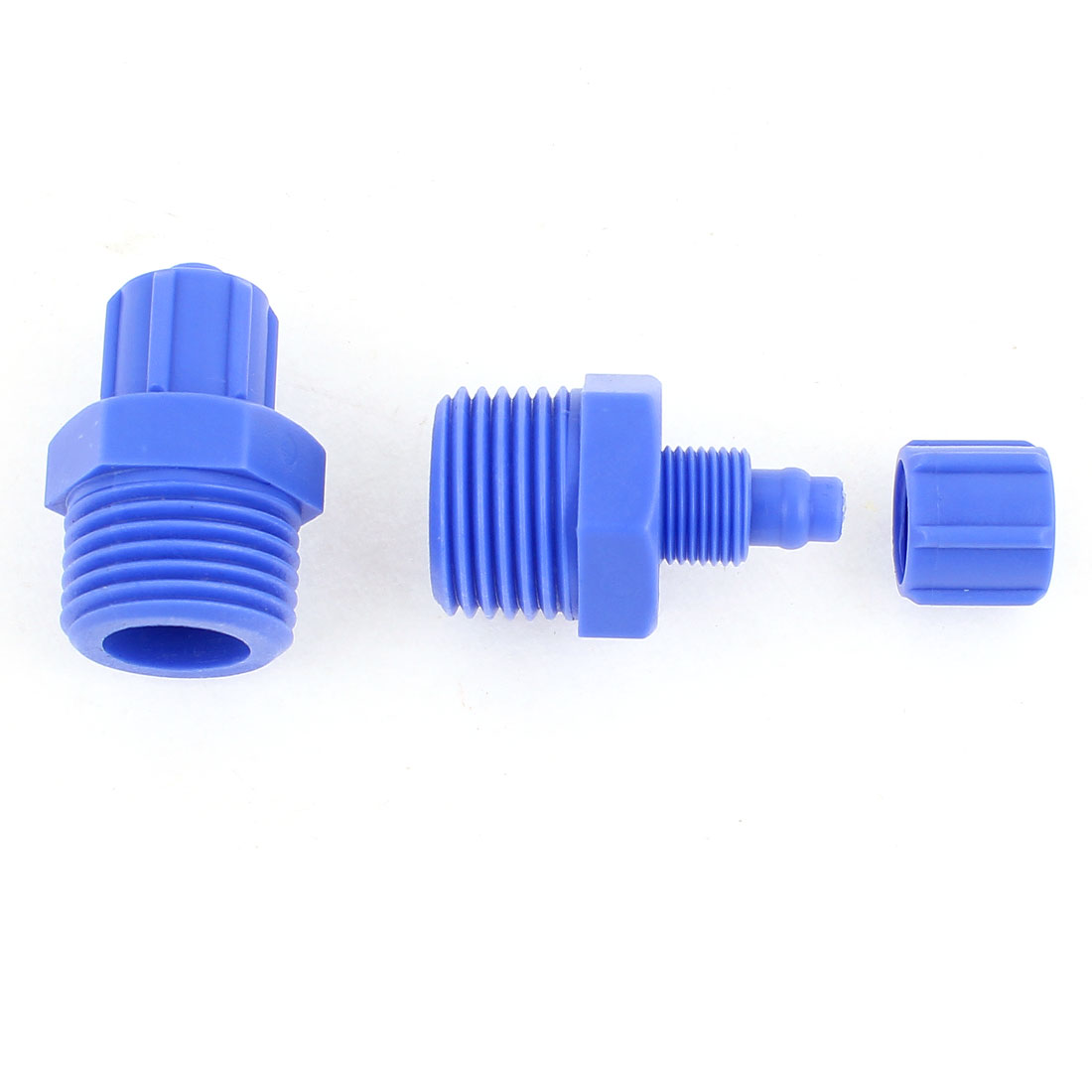 2 Pcs 1/2BSP Male Pneumatic Quick Fitting Hose Tube Pipe Connector 8mm OD