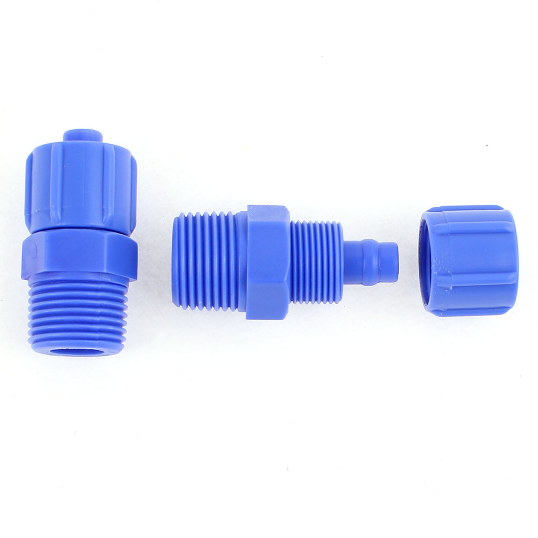 2Pcs 3/8BSP Male Pneumatic Quick Fitting Hose Pipe Tube Connector 10mm OD