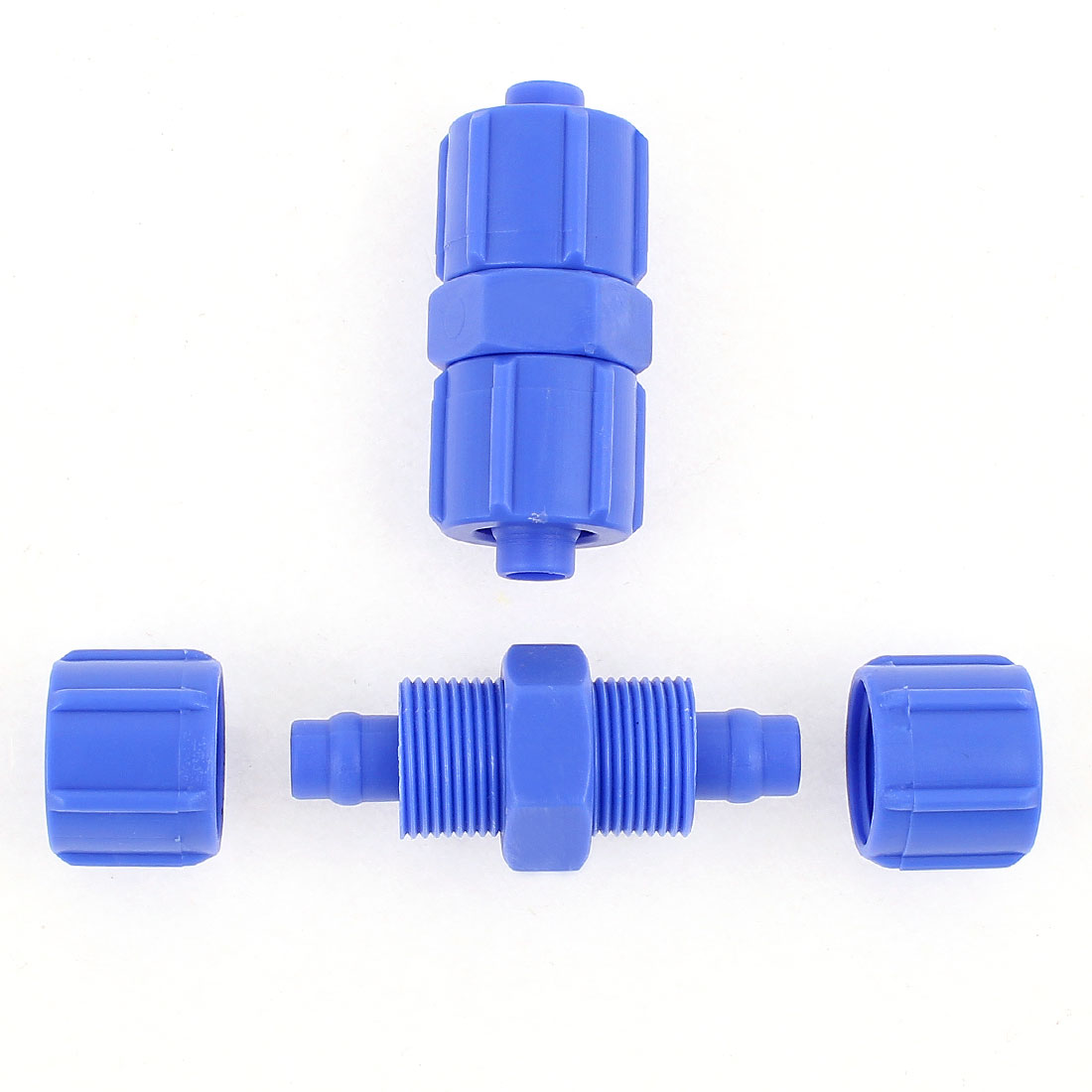 2Pcs 10mm x 10mm Air Pneumatic Quick Fitting Pipe Hose Tube Connector Coupler