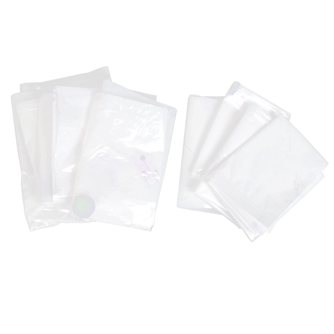 8PCS Travel Clothing Quilt Seal Vacuum Compressed Storage Bags w Hand Pump