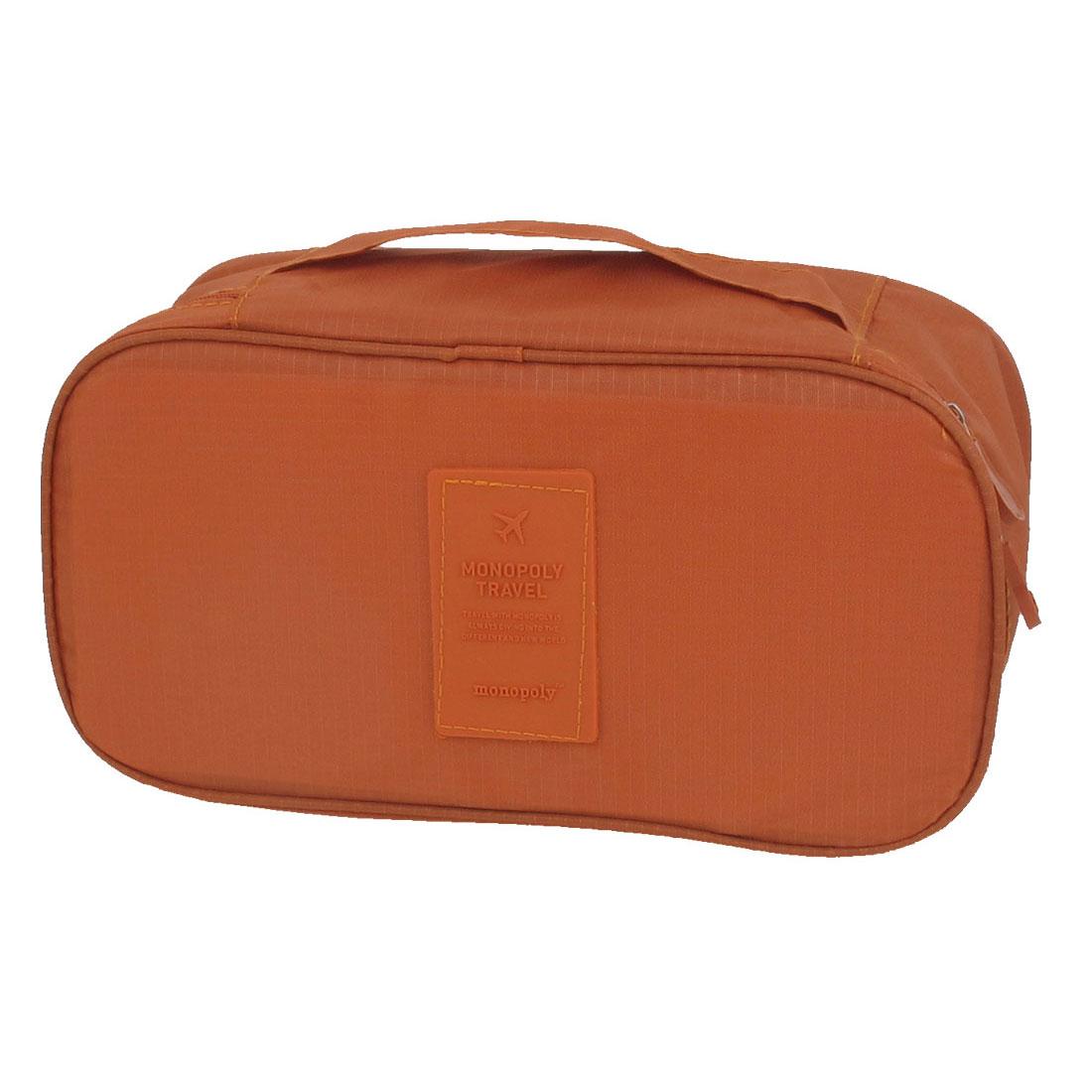 Women Travel Makeup Towel Underwear Bra Toiletry Wash Bag Handbag Orange