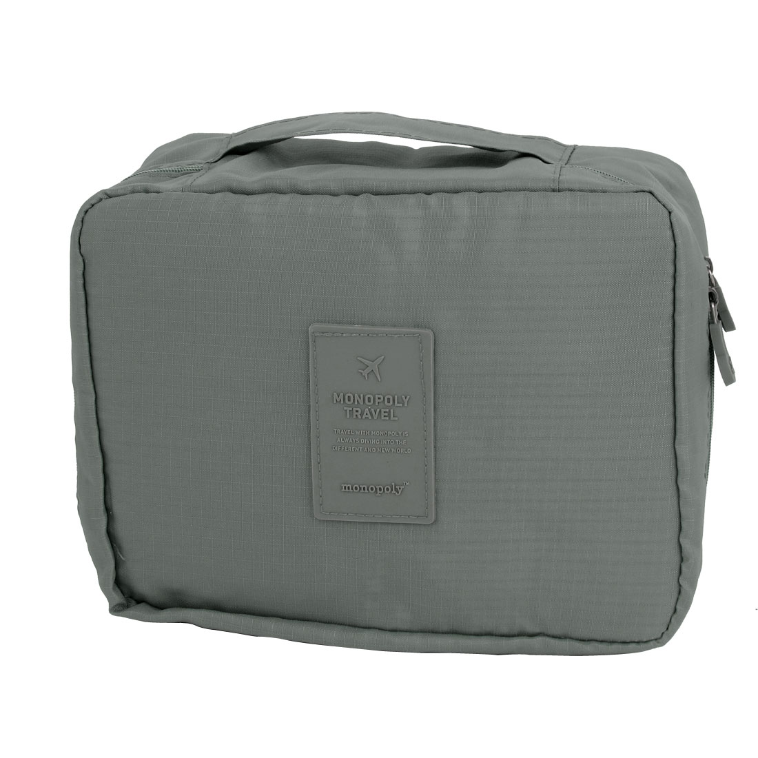 Travel Camping Toiletry Toiletries Cosmetic Shaving Wash Bag Storage Case Gray