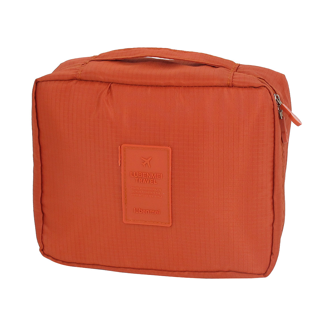 Travel Camping Toiletry Toiletries Cosmetic Shaving Wash Bag Storage Case Orange