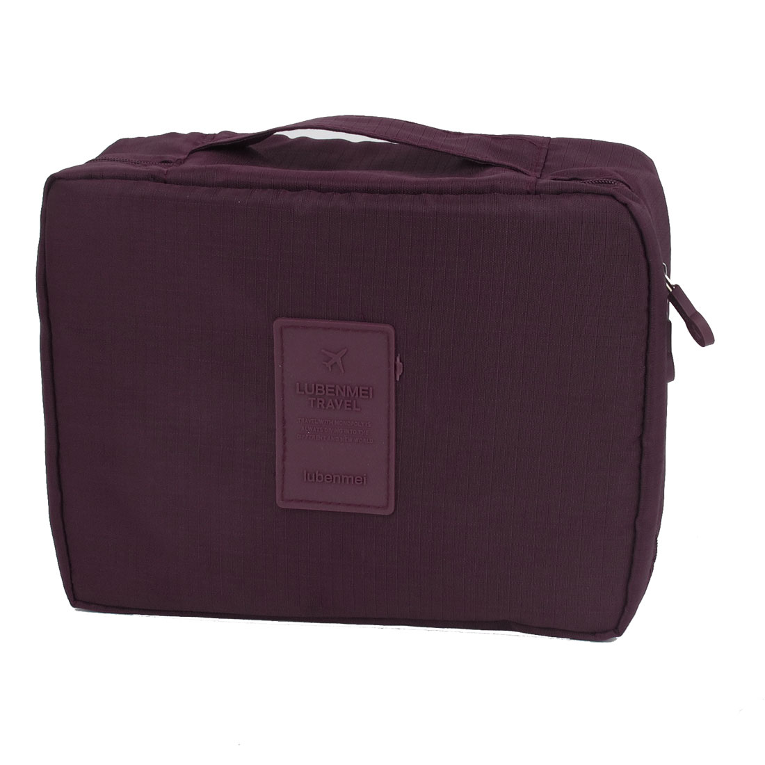 Travel Toiletry Toiletries Cosmetic Shaving Wash Bag Storage Case Box Burgundy