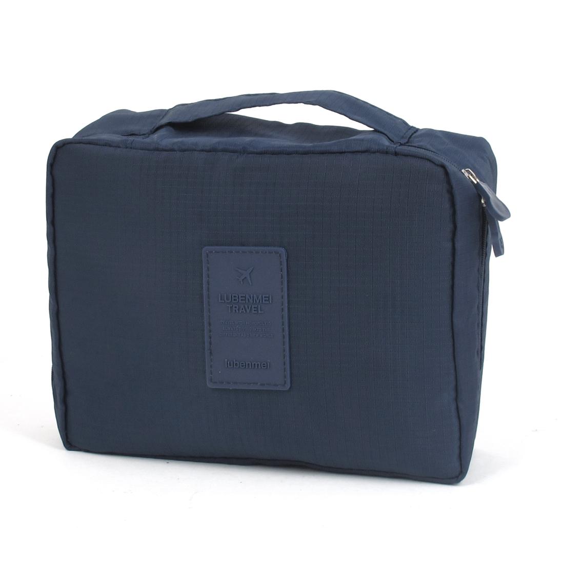 Travel Toiletry Toiletries Cosmetic Shaving Wash Bag Storage Case Dark Blue