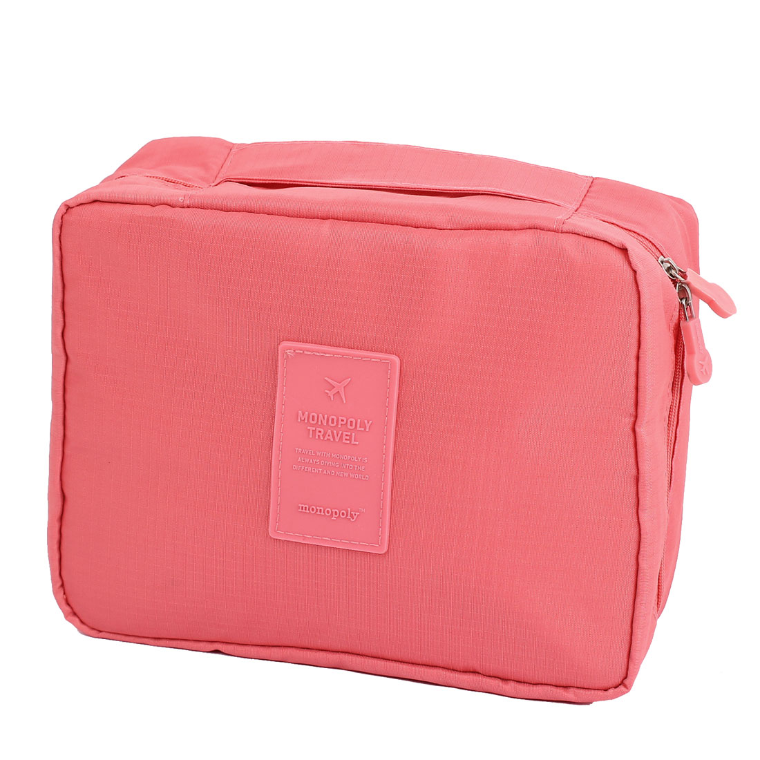 Travel Camping Toiletry Toiletries Cosmetic Shaving Wash Bag Storage Case Pink