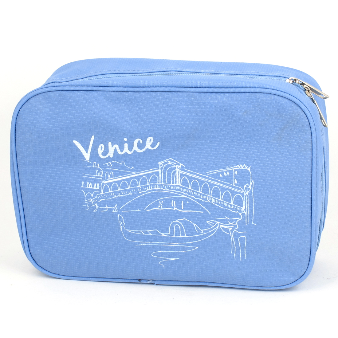 Travel Toiletry Toiletries Makeup Hanging Folding Wash Storage Bag Sky Blue