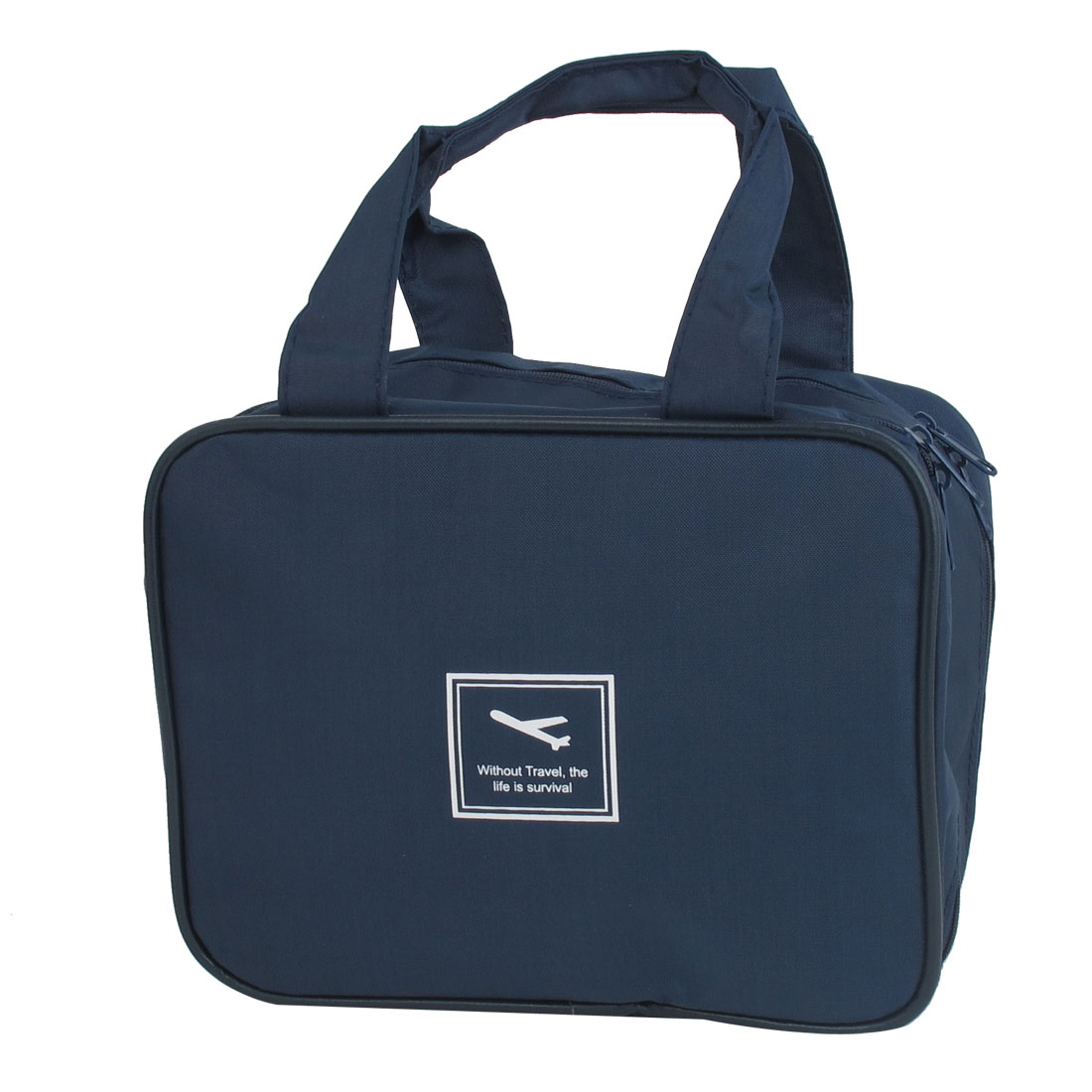 Outdoor Travel Toiletry Toiletries Cosmetic Beauty Wash Bag Handbag Dark Blue