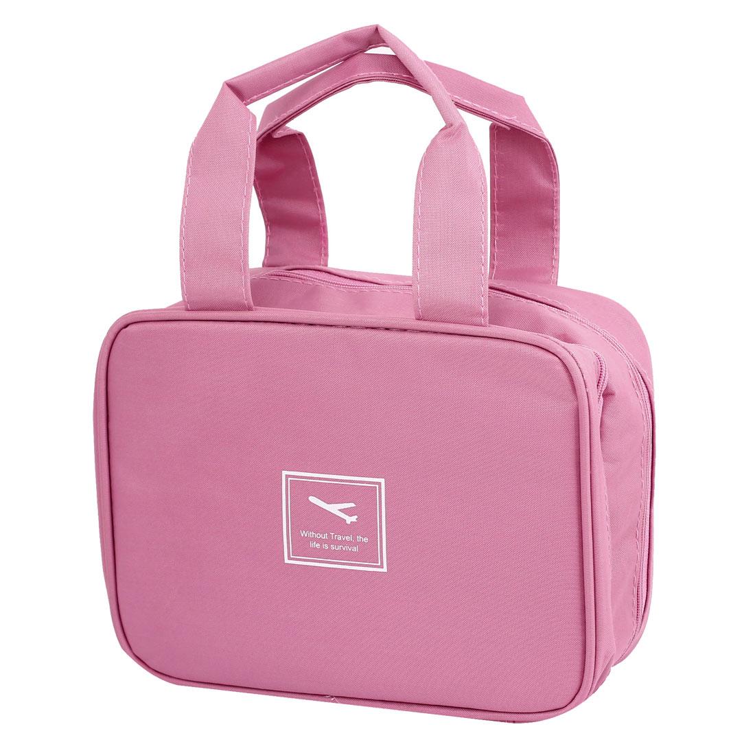 Outdoor Travel Toiletry Toiletries Cosmetic Beauty Wash Bag Handbag Pink