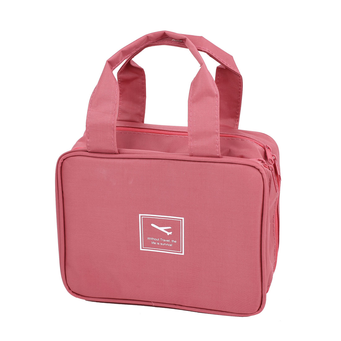 Outdoor Travel Toiletry Toiletries Cosmetic Beauty Wash Bag Handbag Fuchsia