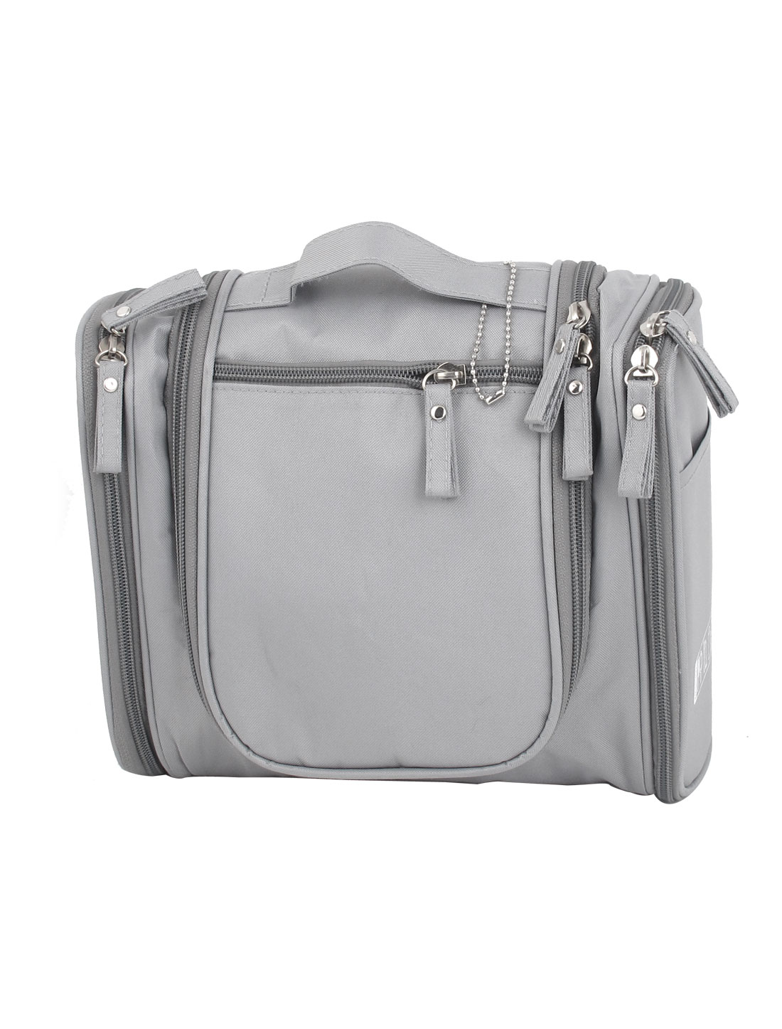 Lady Travel Cosmetic Toiletry Toiletries Hanging Storage Wash Bag Handbag Gray