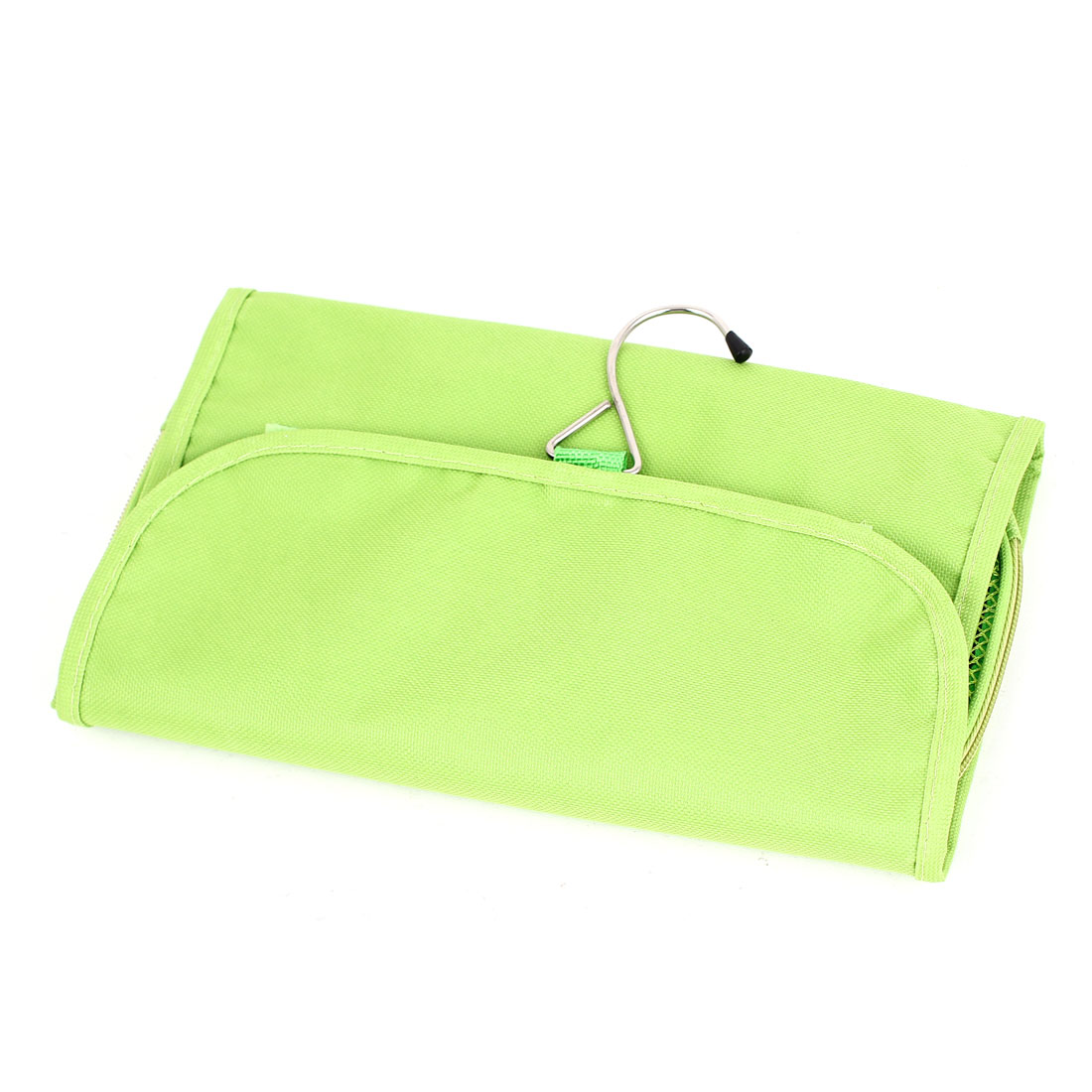 Travel Toiletry Toiletries Cosmetic Mirror Hanging Foldable Wash Bag Green