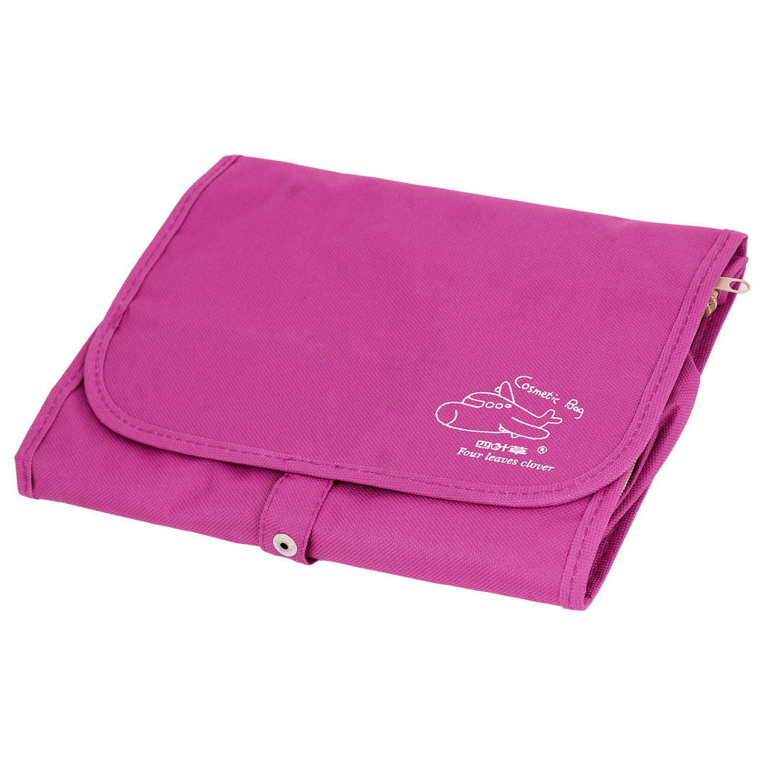 Sports Travel Toiletry Toiletries Cosmetic Makeup Foldable Wash Bag Fuchsia