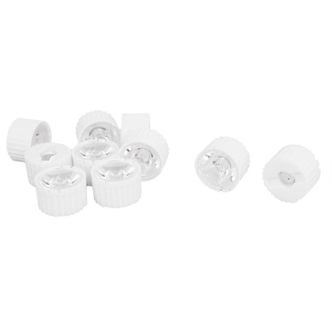 10 Pcs 15 Degree View Angle Condenser Light LED Optical Lens w White Holder