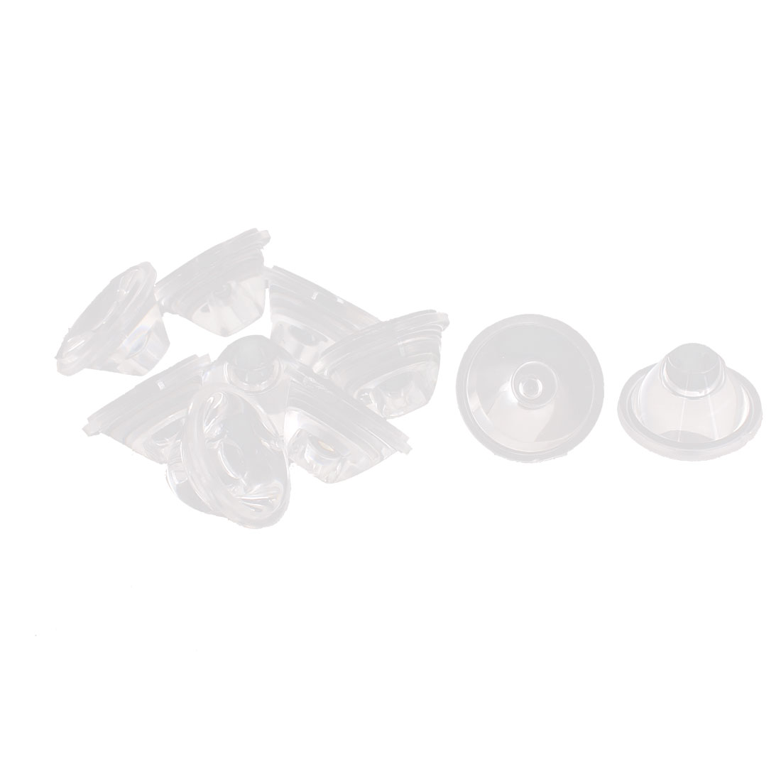 10pcs 20mm Transparent High Power LED Lens Reflector Collimator 45 Degree