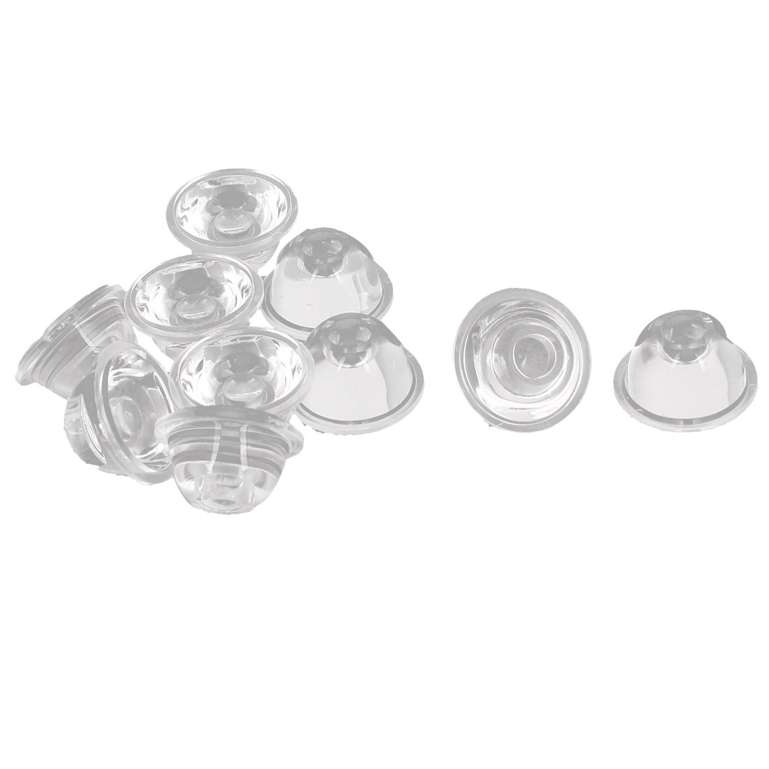 High Power LED Lens Reflector Collimator 120 Degree 20mm Dia Clear 10pcs