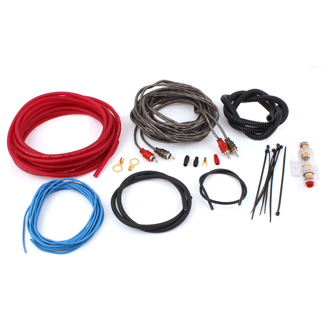Auto Car Audio System Speaker Amplifier RCA Wiring Cable Wire Kit