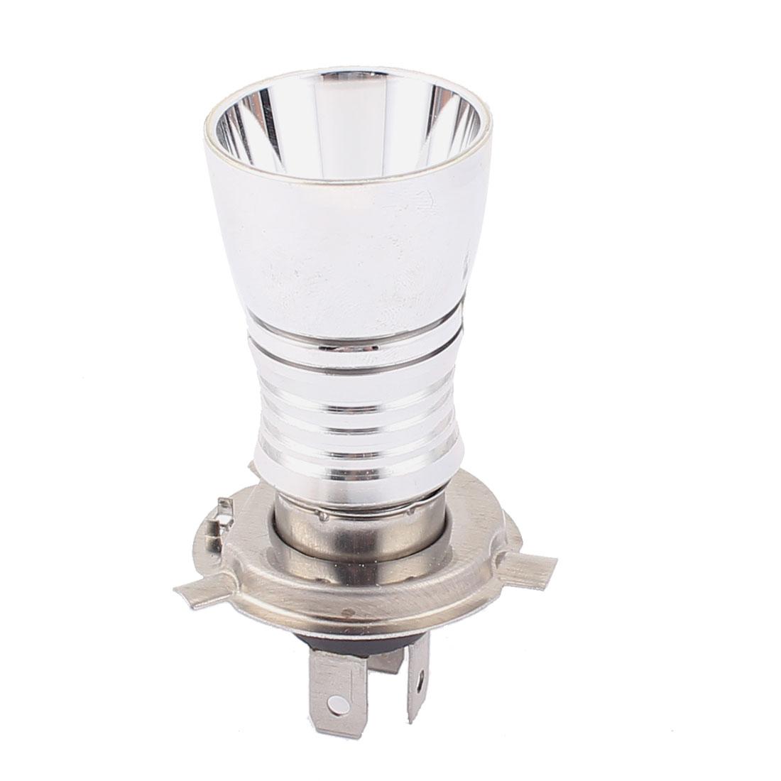 Sliver Tone Shell H4 5W White Motorcycle Moto LED Headlight Lamp Bulb