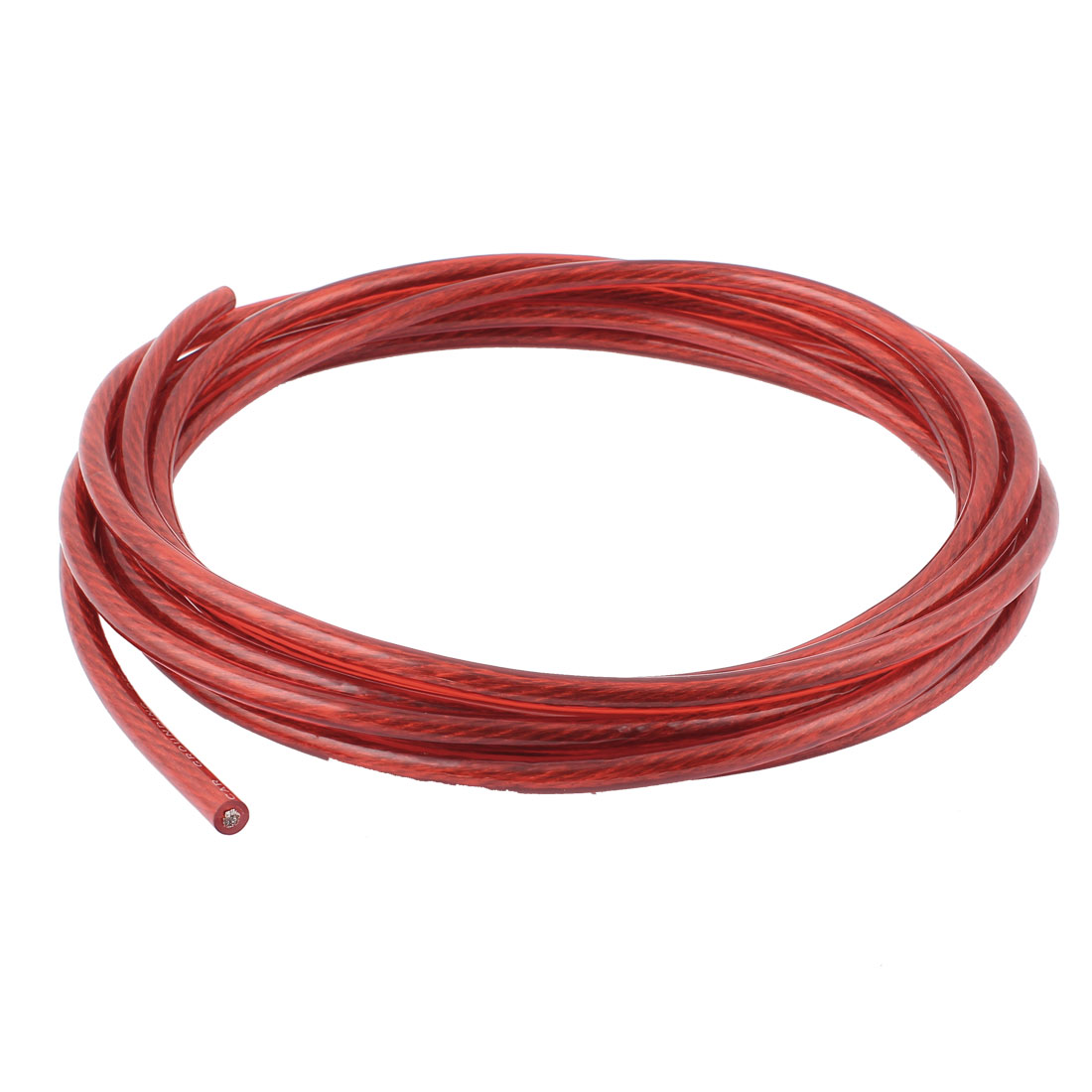 Car Universal Red Plastic Power Ground Grounding Wire Cable 66A 4.5M