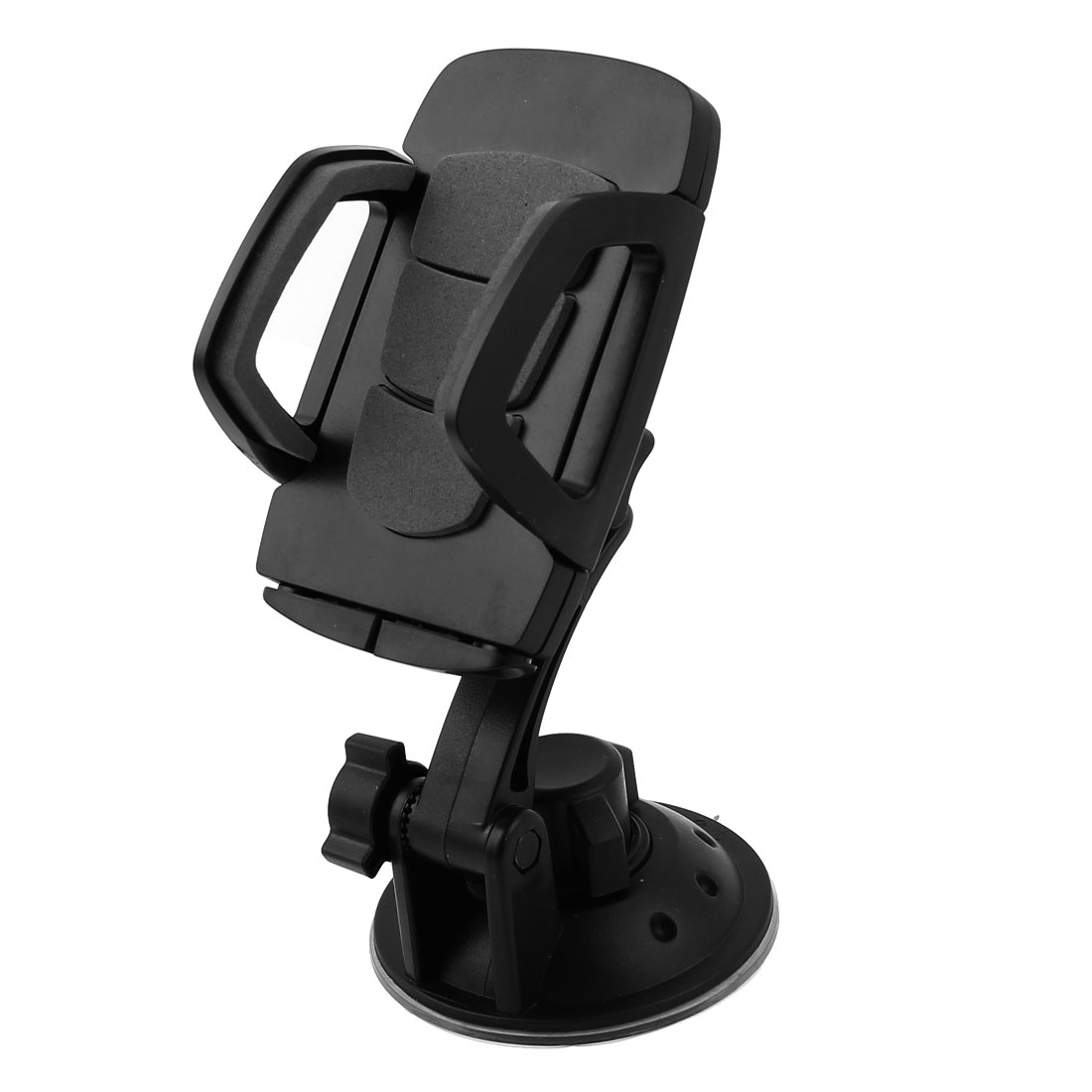 Car Windshield Adjustable Black Plastic Mount Bracket Holder for GPS Cellphone