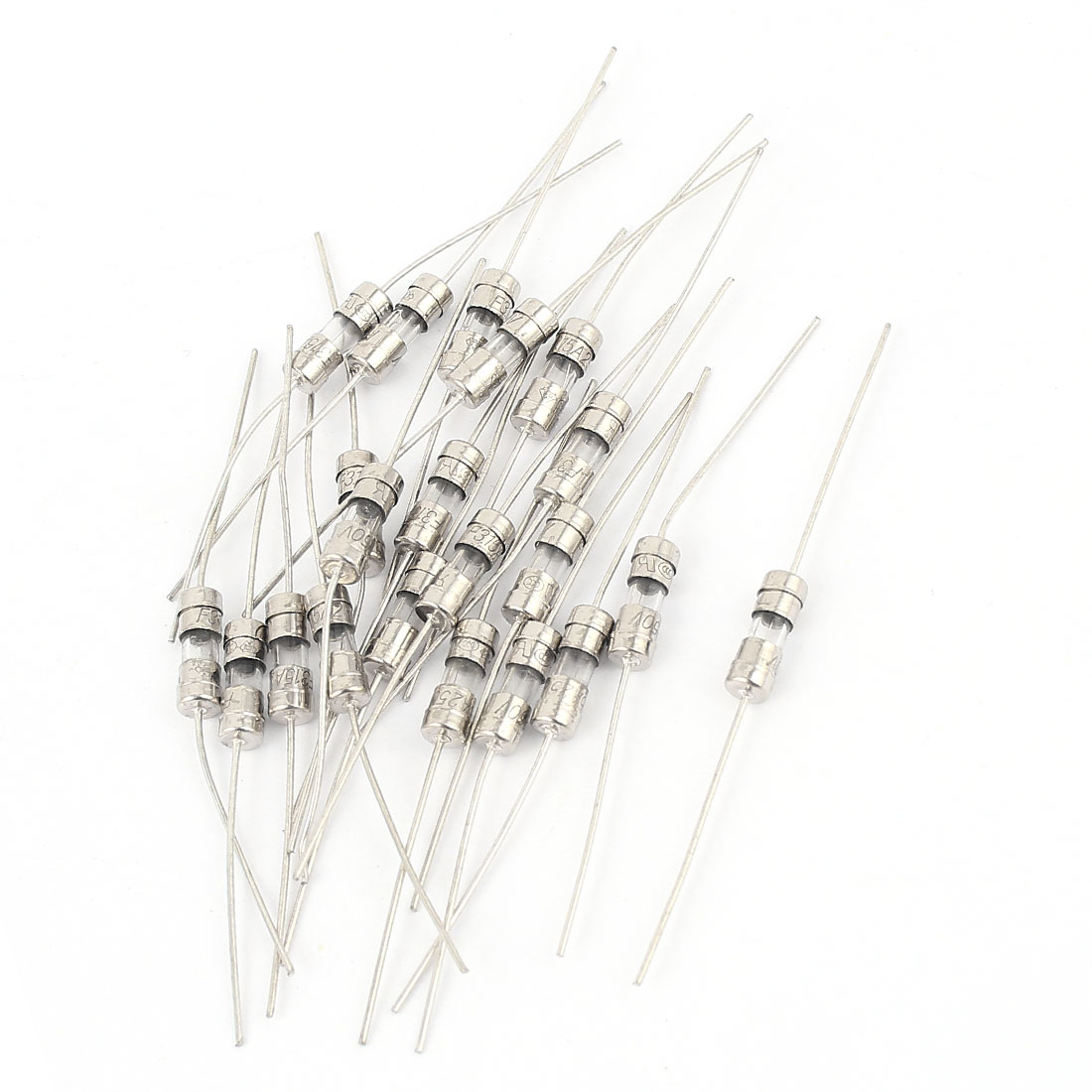 20pcs AC 250V 4A 4x11mm Fast-blow Acting Axial Lead Glass Fuse