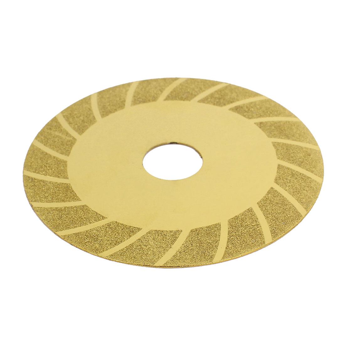 100mmx20mm Concrete Tile Diamond Grinding Polishing Wheel Cutting Disc Gold Tone